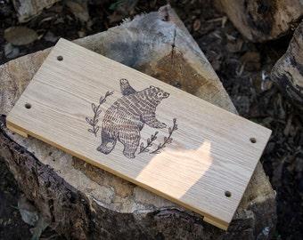 Handmade Swing with Bear Engraving