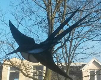 Tiffany glass. SunCatcher bird. Model: Swallow