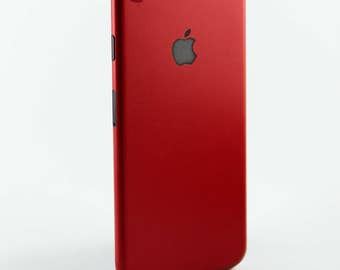 Red Iphone 7 or 7+ vinyl wrap skin