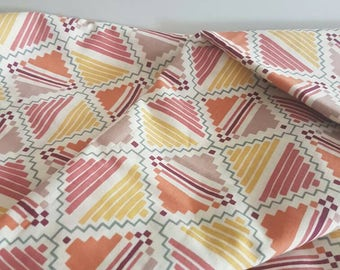 Reserved for Diani** Vintage Sheet - Autumn Colours - Retro Mod - Fabric Craft