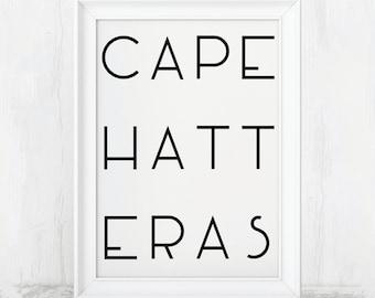 Cape Hatteras Art, Cape Hatteras NC, Cape Hatteras Print, Cape Hatteras Poster, Cape Hatteras Decor, Cape Hatteras, North Carolina, Hatteras