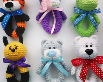 Knitted rattle. Baby rattle. Baby rattle toys. Baby toys.Rattle for newborn. Newborn softy rattle