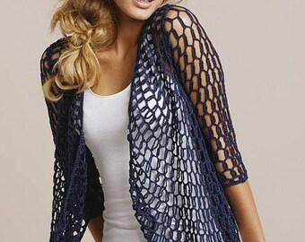Crochet circular vest, Crocheted bolero, crochet bolero jacket -  made to order,  FREE SHIPPING