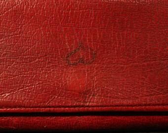 70s wallet true vintage large red leather wallet sticker retro retro zipper
