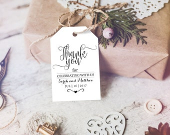 Thank You Tag - Wedding Printable -  Wedding Favor Tag - Wedding Thank You Tags  - Thank You Wedding - Downloadable wedding #WDH301_1