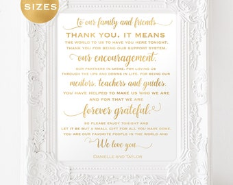 gold thank you wedding signs thank you wedding sign gold foil