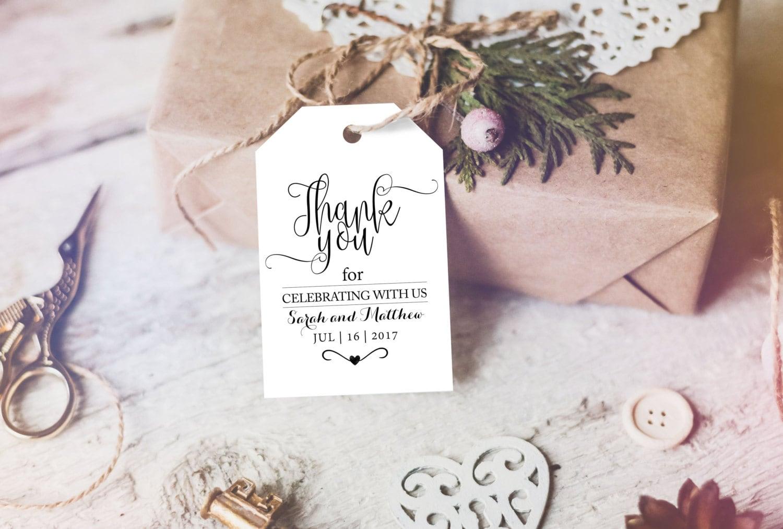 Wedding Favour Gift Tags: Thank You Tag Wedding Printable Wedding Favor Tag