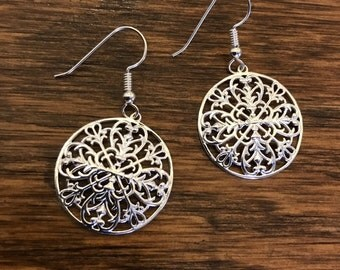 Sterling silver (925) earrings, Ashley Ave, Gates of Charleston, Charleston Gate Jewelry