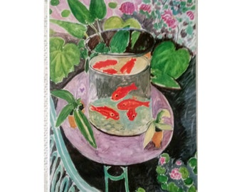 "Hardboard Print ""The Goldfish"" By Henri Mattise 1911"