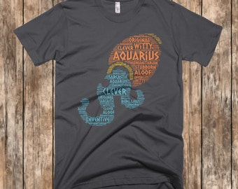 Aquarius Shirt, February Shirts, January Birthday Shirts, February Birthday, Zodiac Tee, Zodiac Shirt, Aquarius Zodiac, Aquarius Gifts