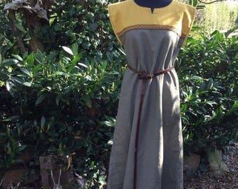 Viking dress, medieval dress, linen dress