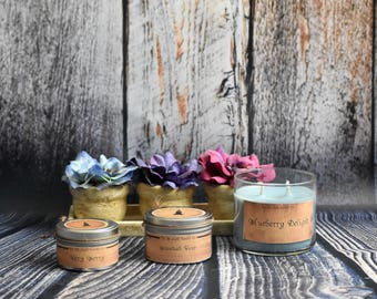 InTheLightCandleCo - Spring Candles | Blueberry Delight + Brandied Pear + Fierce + Green Tea & Lemongrass + Very Berry + More!