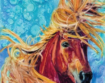 Canvas Print, Horse Picture, Horse Wall Hanging, Art and Collectibles, HorseArt,Horse Canvas Art, Horse Lover, Wall Picture Horse