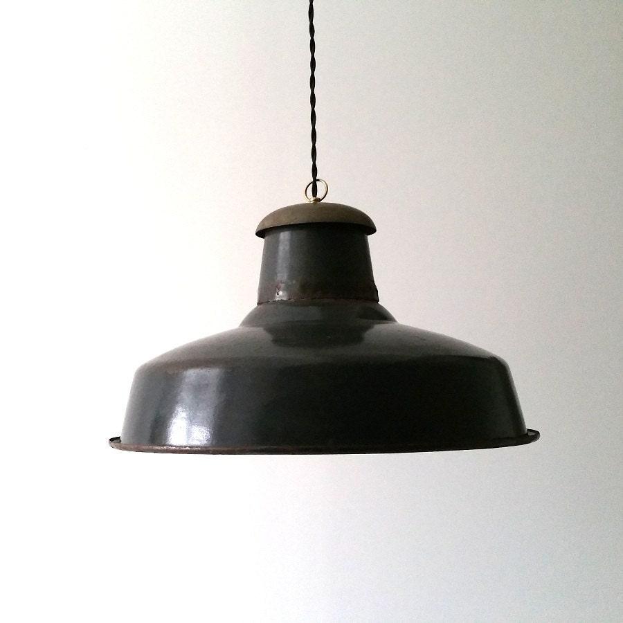 Vintage farmhouse enamelware light fixture