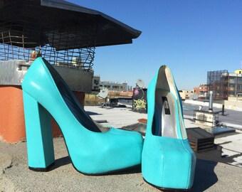 Senso Barbie blue heels, size 37
