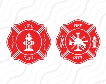 Firefighters svg, Firemen SVG, Fire Department SVG Cut table Design,svg,dxf,png Use With Silhouette Studio & Cricut_Instant Download