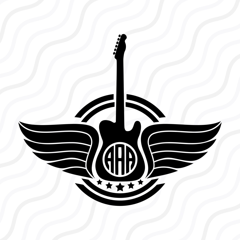 Guitar SVG Guitar Music SVGGuitar Monogram SVG Cut Table