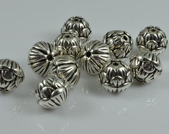 20pcs-Spacer beads antique silver tone flower shape diy jewelry making,8mm,12mm ,ET8220