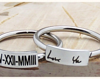 Personalized Bar Ring custom engraving