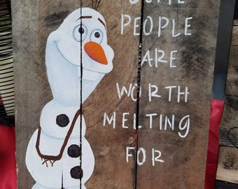 Olaf Hanging Pallet Sign