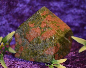 Unakite Crystal Point Healing Reiki Chakra Meditation Energy Specimen Mineral