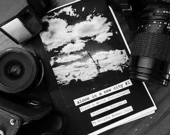 B&W Photography Zine - Alone in a new city