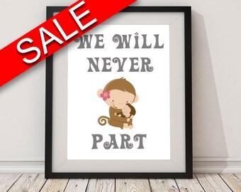 Wall Art Nursery Digital Print Nursery Poster Art Nursery Wall Art Print Nursery  Wall Decor Nursery mom baby nursery monkey