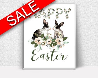 Wall Art Easter Bunny Digital Print Easter Bunny Poster Art Easter Bunny Wall Art Print Easter Bunny Easter Art Easter Bunny Easter Print