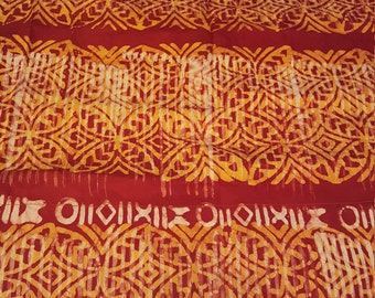 Lava Print Batik Curtains