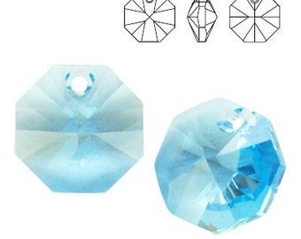 Swarovski Elements, 6401, Octagon Aquamarine 12mm, Swarovski Octagon, Swarovski crystal, blue crystal, light blue crystal
