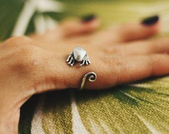 Unique Gecko Ring Blue Eyes