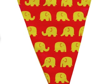 Cute elephant bunting//children's bunting//baby bunting//nursery bunting//bedroom bunting
