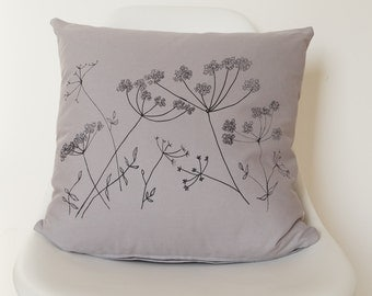 Cow Parsley Screen-Printed Cushion