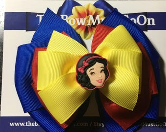 Snow White Bow/Stacked Bows/Character Bows/Snow White Bows/Disney Inspired Bows/Snow White accessories/Disney Hair Bows