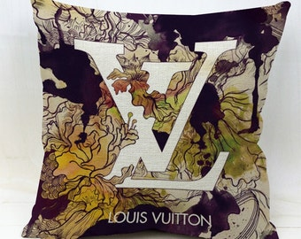 Decorator designer inspired pillow covers- LV