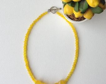 Yellow Jade necklace