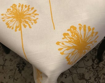 Summer Tablecloth | Yellow White Dandelion | Home Decor Fabric Medium Weight | Floral Flowers Tablecloth | Summer Tablecloth