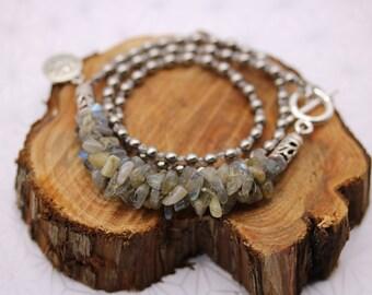 Japanese Kumihimo Labradorite bracelet