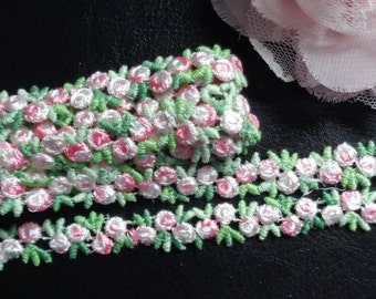 """embroidered 1/2"""" inch wide Venise Lace trim selling by the yard"""