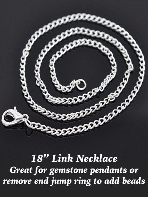 """Link Chain,  Silver Plated, 18"""" **FREE U.S. SHIPPING**"""