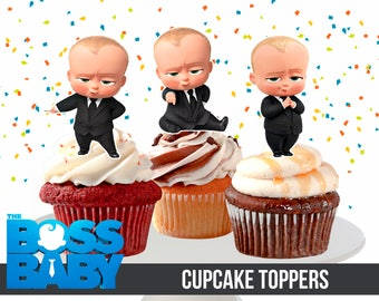 The Boss Baby Cupcake Toppers, Printable, The Boss Baby Party, 2,5 inches tall, 3 The Boss Baby Toppers, Instant Download