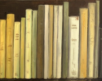 Readings-1, oil on canvas - original work - figurative painting
