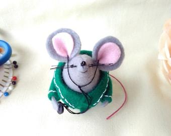 Vet mouse, Handmade felt mouse, Vet nurse, uniform