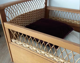 vintage baby bed