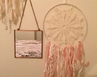 Rose and Ivory Dreamcatcher