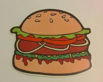 I'll have a hamburger sticker, hold the zazz