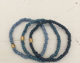 The Skye mini stack - small beaded bracelets - boho chic - beachy
