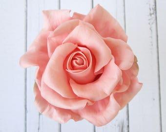 Peach Rose Hair Pin - Peachy Flowers Hairpin Bridal Hair Accessories - Rose Hair Clip Wedding Hair Decoration - Hair Flowers Bridesmaid