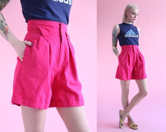 Vtg 90s Super High Waisted Magenta Shorts by Palmetto's sz S