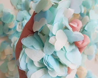 Baby blue & Ivory heart throwing and table decor confetti / Wedding / Birthday / Baby showers and many more decor